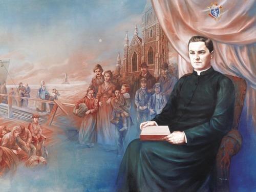 Der heilige Zölibat - Ehelosigkeit um des Himmelreichs willen.  Pater Michael J. McGivney (Gemälde von Antonella Cappuccio, 2003)